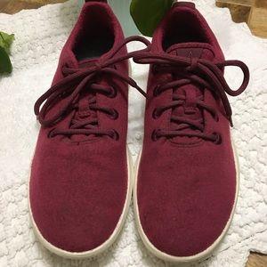 Allbirds red wool runners sneakers